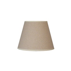 bed side table small barrel linen shade 11473